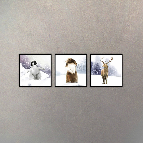 Set Invierno Infantil (3 Cuadros)