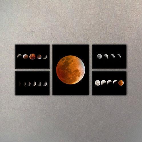 Combo Astronomía V (5 Cuadros)