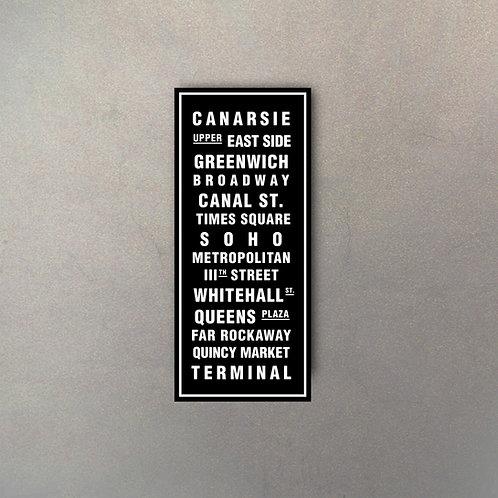 Cartel Gigante Tipografía New York II