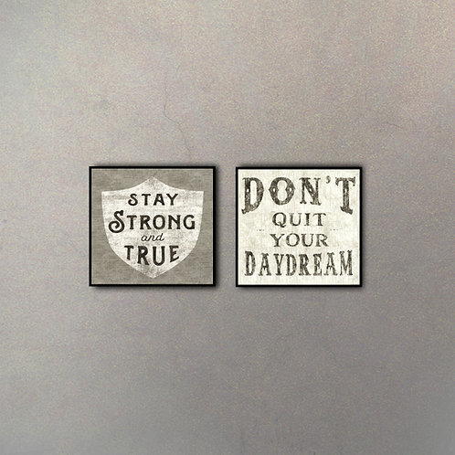 Set Frases Motivacionales Stay Strong & Don't Quit Your Daydream