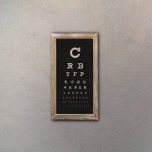 Cartel Tabla Oculista Efecto Añejo II