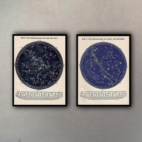 Set Constelaciones (2 Cuadros)