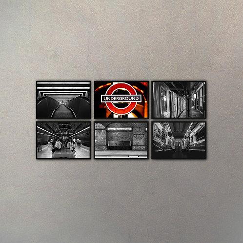 Combo Underground (6 Cuadros)