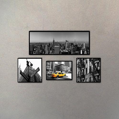Combo Fotografías New York I (4 Cuadros)