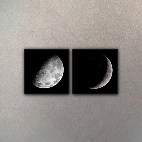 Set Fases Luna III (2 Cuadros)