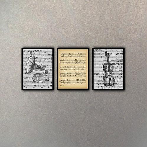Set Música I (3 Cuadros)