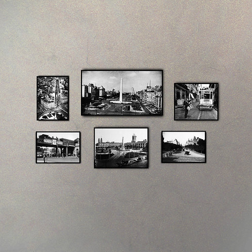 Set Buenos Aires Antiguo (6 Cuadros)