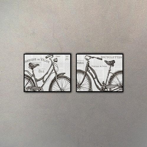 Set Bicis I (2 Cuadros)