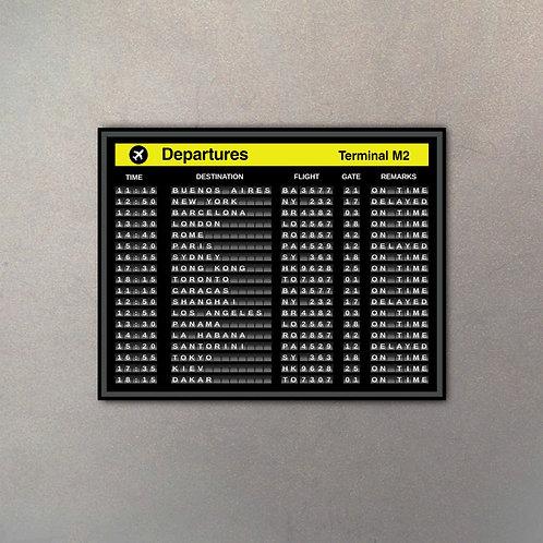 Cartel Aeropuerto Mega III