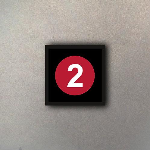 "NYC Subway Línea ""2"""
