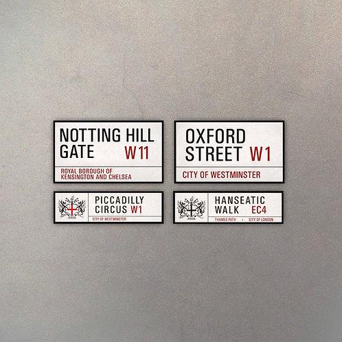 Combo Calles Londres II (4 Cuadros)