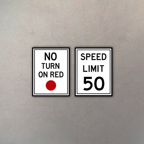 Set No Turn & Speed Limit (2 Cuadros)