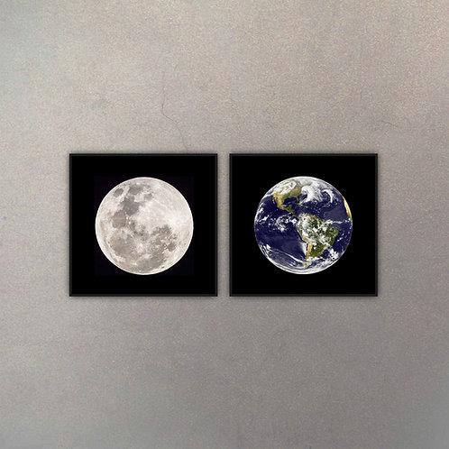 Set Tierra & Luna (2 Cuadros)