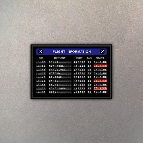 Cartel Aeropuerto IV