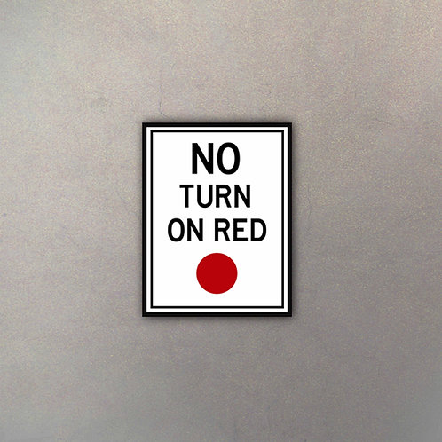 Cartel No Turn On Red