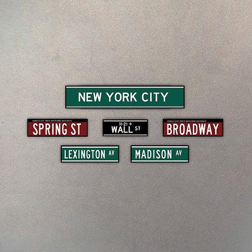 Combo Calles NYC I (6 Cuadros)