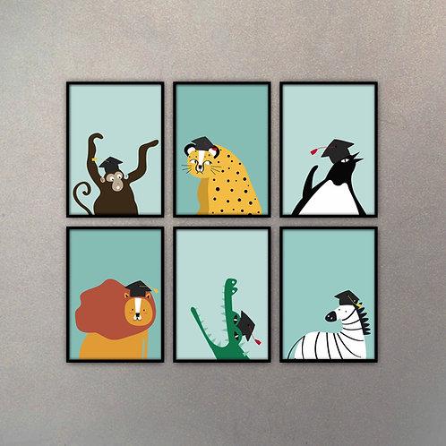 Set Ilustraciones Infantiles II (6 Cuadros)