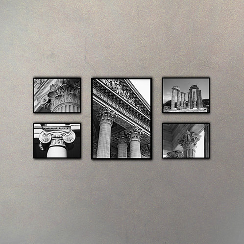 Set Capiteles II (5 Cuadros)