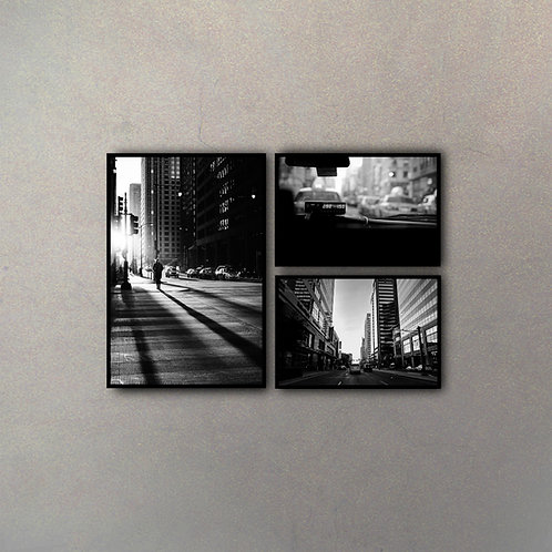Set Vista New York II (3 Cuadros)