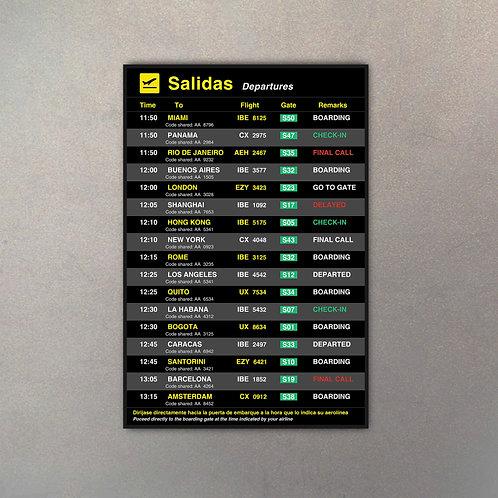 Cartel Aeropuerto Mega IV (Versión MINI)