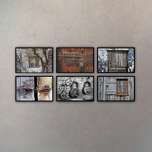 Set Texturas Puertas & Ventanas (6 Cuadros)