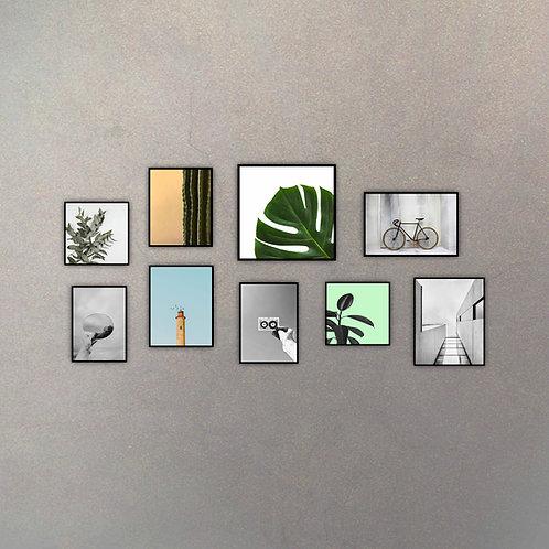 Set Contemporáneo I (9 Cuadros)