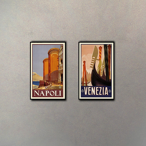 Combo Napoli-Venezia (2 cuadros)