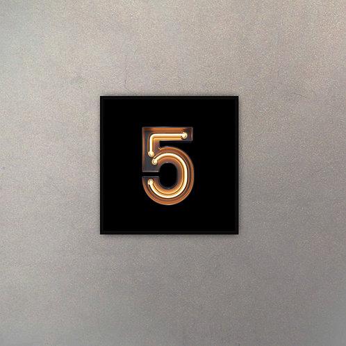 "Fotografía Número ""5"" Neón"