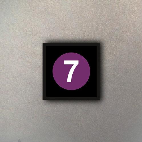 "NYC Subway Línea ""7"""
