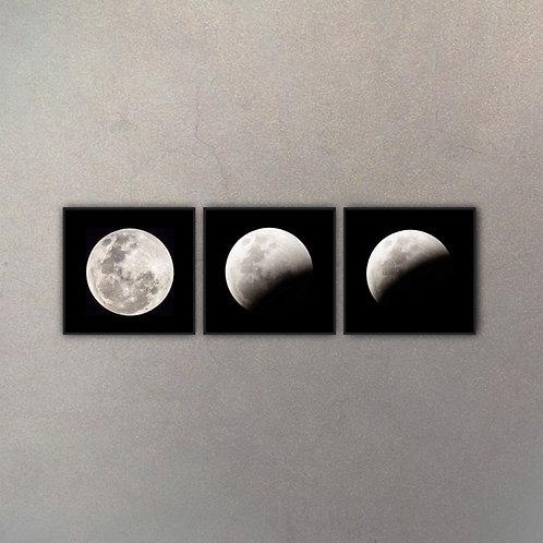 Set Fases Luna IV (3 Cuadros)