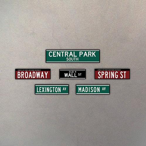Combo Calles NYC V (6 Cuadros)