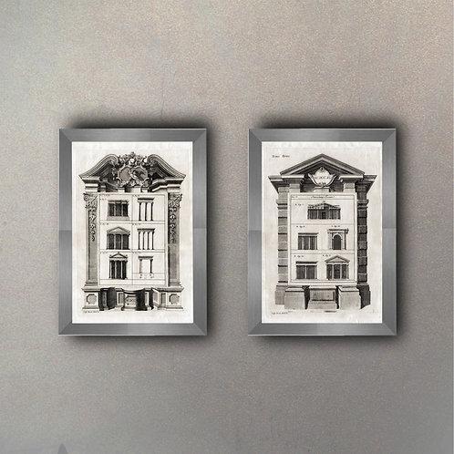 Set Arquitecturas I y II (2 Cuadros)