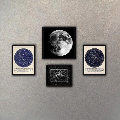 Combo Constelaciones (4 Cuadros)