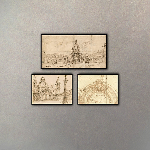 Set Bocetos Arquitectónicos I
