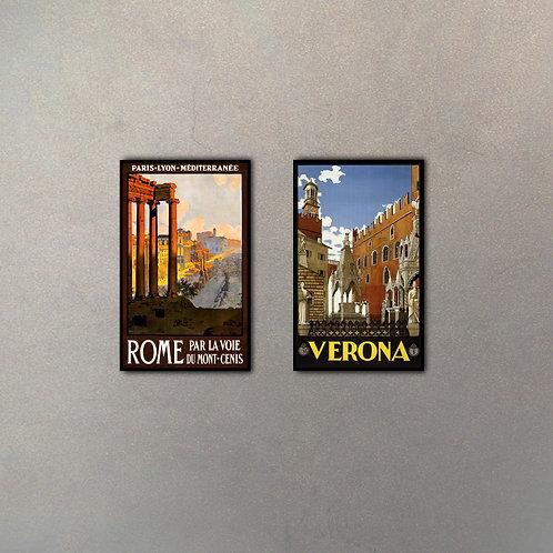 Combo Rome-Verona (2 cuadros)