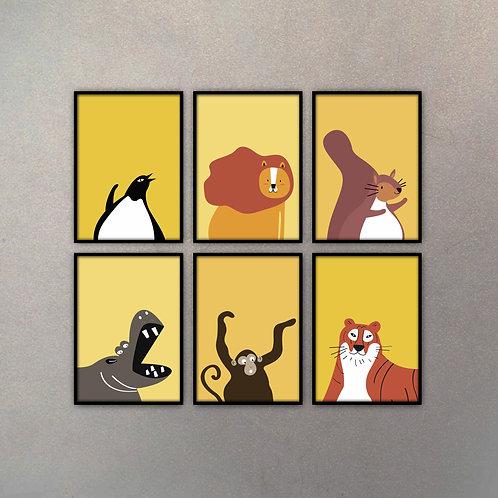 Set Ilustraciones Infantiles (6 Cuadros)