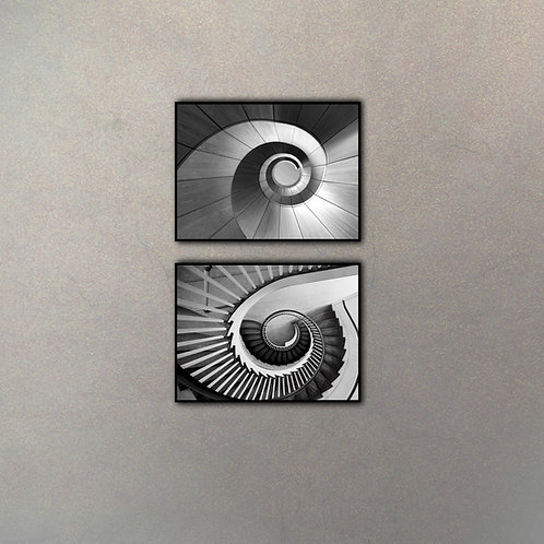 Set Fotografías Escaleras I (2 Cuadros)