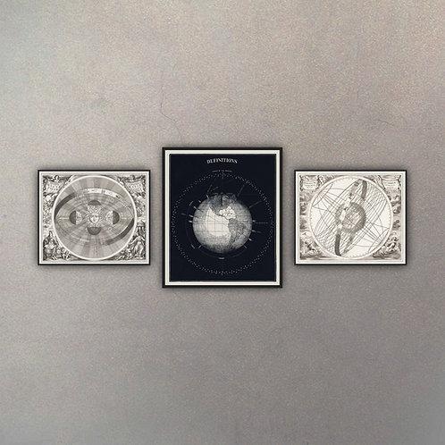 Combo Astronomía III (3 Cuadros)