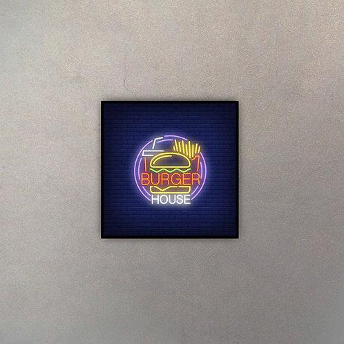 Burger House Neón