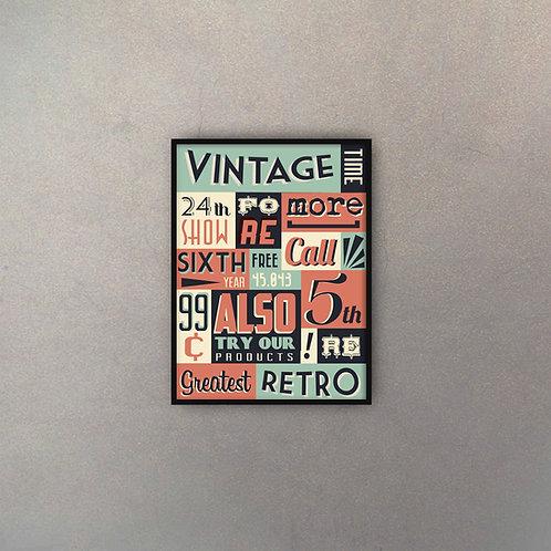 Diseño Tipográfico Vintage
