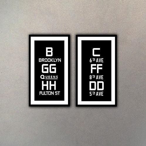 Set Tipografía II (2 Cuadros)