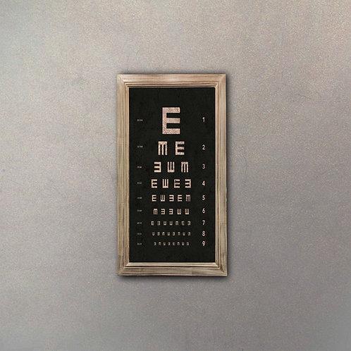 Cartel Tabla Oculista Efecto Añejo I