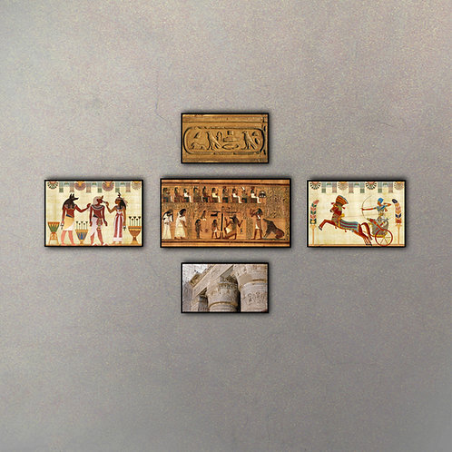 Set Egipto I (5 Cuadros)