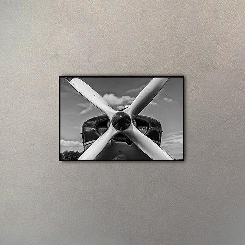 Frente Avión A Hélice