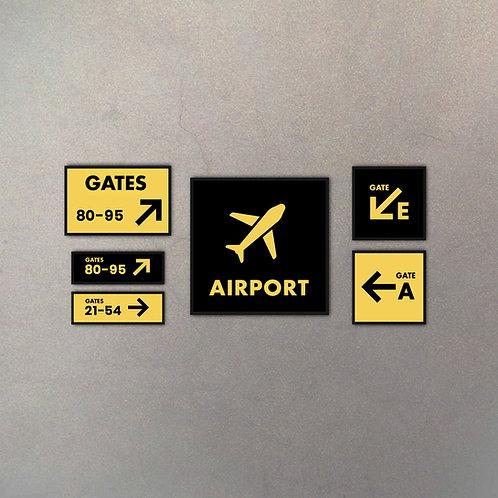Combo Colección Aeropuerto II (6 Cuadros)