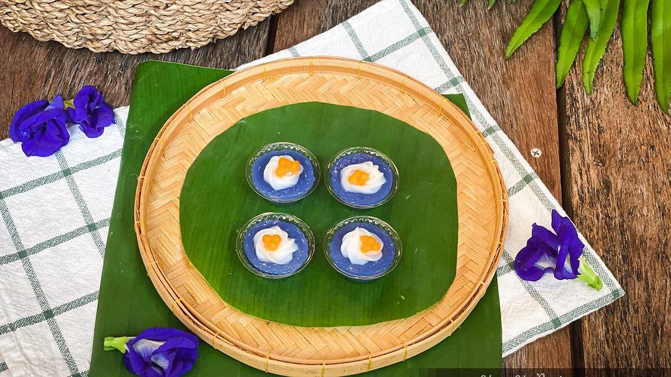 ขนมอัญชัญไข่แมงดา