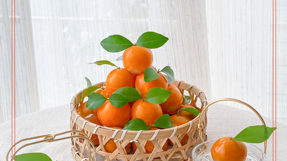 ชุดขนมเปี๊ยะลูกส้มไส่ถั่วทองไข่เค็ม ขนาด 8 นิ้ว