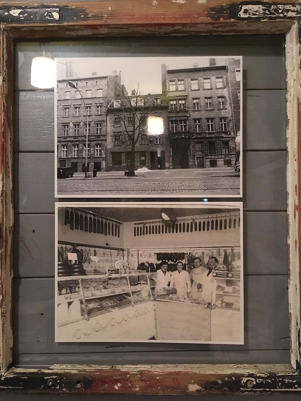 お店がお肉屋だった頃の写真