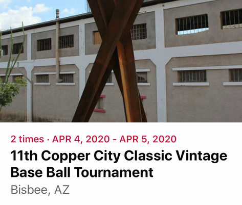 The Copper City Classic Vintage Base Ball Tournament returns for its 11th year on April 4th and 5th, 2020 at Warren Ballpark.  The Arizona Territories Vintage Base Ball League and the Friends of Warren Ballpark host the tournament.  Teams are dressed in period uniforms and play by rules adopted when Lincoln was president.  Come cheer or razz the local team, the Bisbee Black Sox.