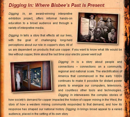 Bisbee Mining and Historical Museum Open Daily 10am to 4pm 5 Copper Queen Plaza (520) 432-7071